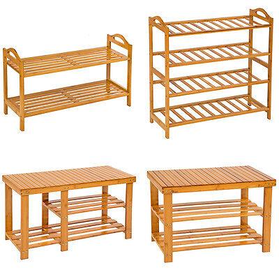 Bambus Schlafzimmer Schrank (Holz Schuhregal mit oder ohne Sitzbank Schuh Bambus Schuhschrank Schuhständer)