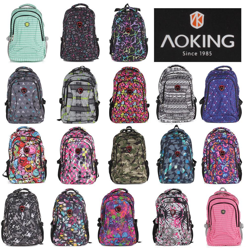 6706359de6dc4 Rucksack AOKING Sport Reise City Schul Tasche Backpack Outdoor Freizeit  Bunt NEU