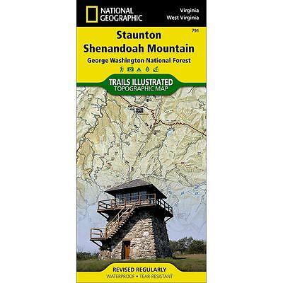 National Geographic Staunton Shenandoah Mountain Topo Trails Illus Map-VA/WV