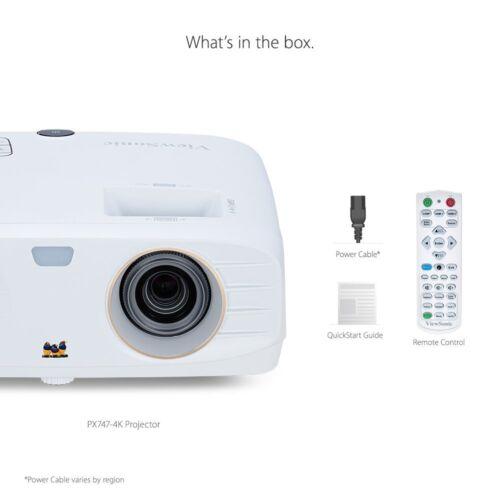 ViewSonic PX747-4K 4K DLP Projector with High Dynamic Range White PX7474K