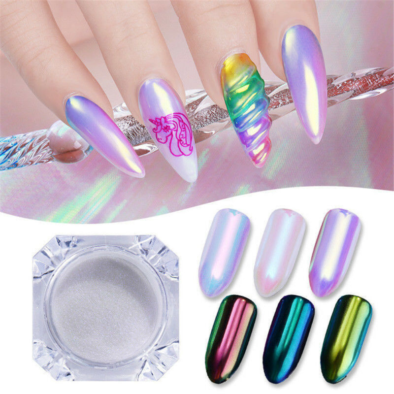 0.2g Neon Mermaid Nail Art Glitter Powder  Mirror Chrome Pigment DIY