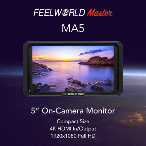 "FeelWorld Master MA5 5"" 4K On-Camera Monitor with HDMI Input"
