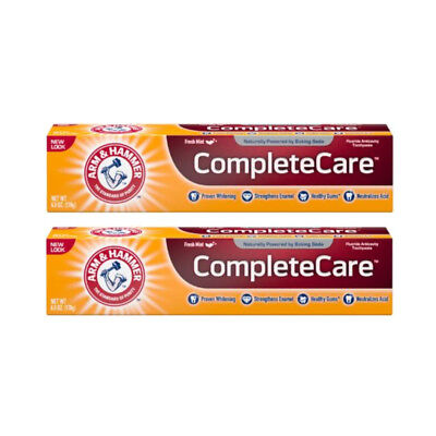 2 Pack Arm & Hammer Complete Care Toothpaste Fresh Mint 6oz