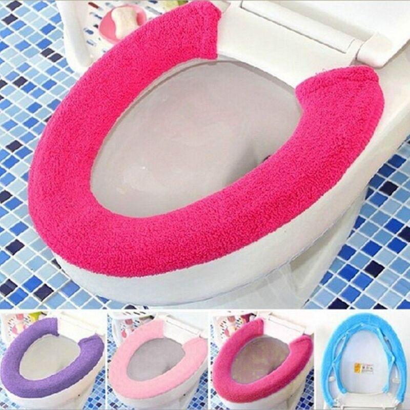 Bathroom Self-adhesive Warmer Toilet Seat Closestool Soft Seat Cover Pad C PPR
