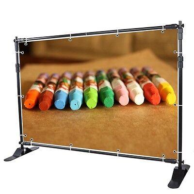 8' Telescopic Backdrop Stand Adjustable Banner Display Trade Show Wall Exhibitor on Rummage