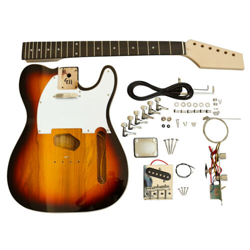 Coban Guitars Electric Guitars DIY Kit TL3 3 Tone Sunburst Pre Painted