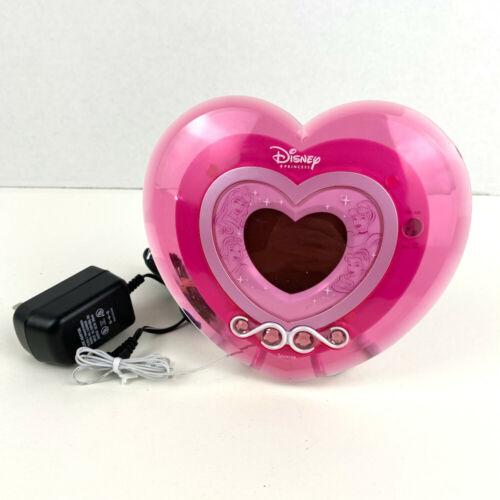 Disney Princess Digital Alarm Clock AM/FM Radio - Pink Heart Vintage 2010