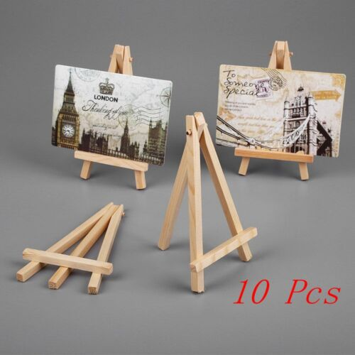 10X Small Wooden Easel Stand Mini Table Desktop Art DIY Wedding Photo Display UK