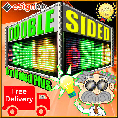 Rgy 53 X 19 Double-sided Programmable Led Sign Scrolling Message Display