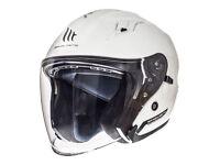 XL Avenue white MT jet helmet