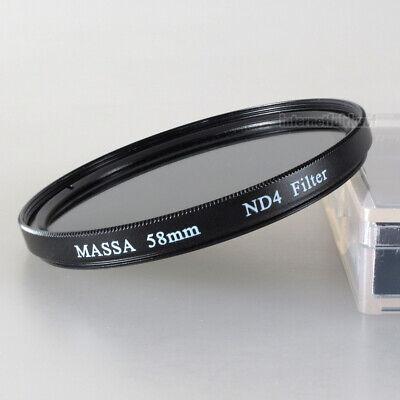 58mm Graufilter ND4 Neutral Density Grau Filter 58 mm