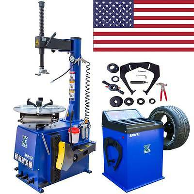 New 1.5 HP Tire Changer Wheel Changers Machine Balancer Rim Clamp Combo -