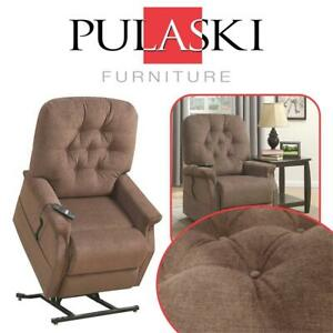 NEW Pulaski DS-A282-016-351 Button Tufted Lift Chair in Saville Brown Condtion: New, No shipping
