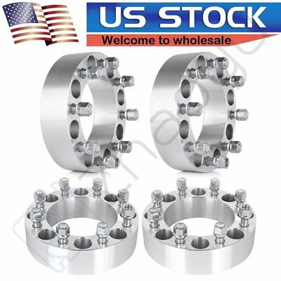 "For Dodge Ram 2500 3500 Ford E-250 F-250 4pcs Wheel Spacers 8x6.5 2""  9/16"""