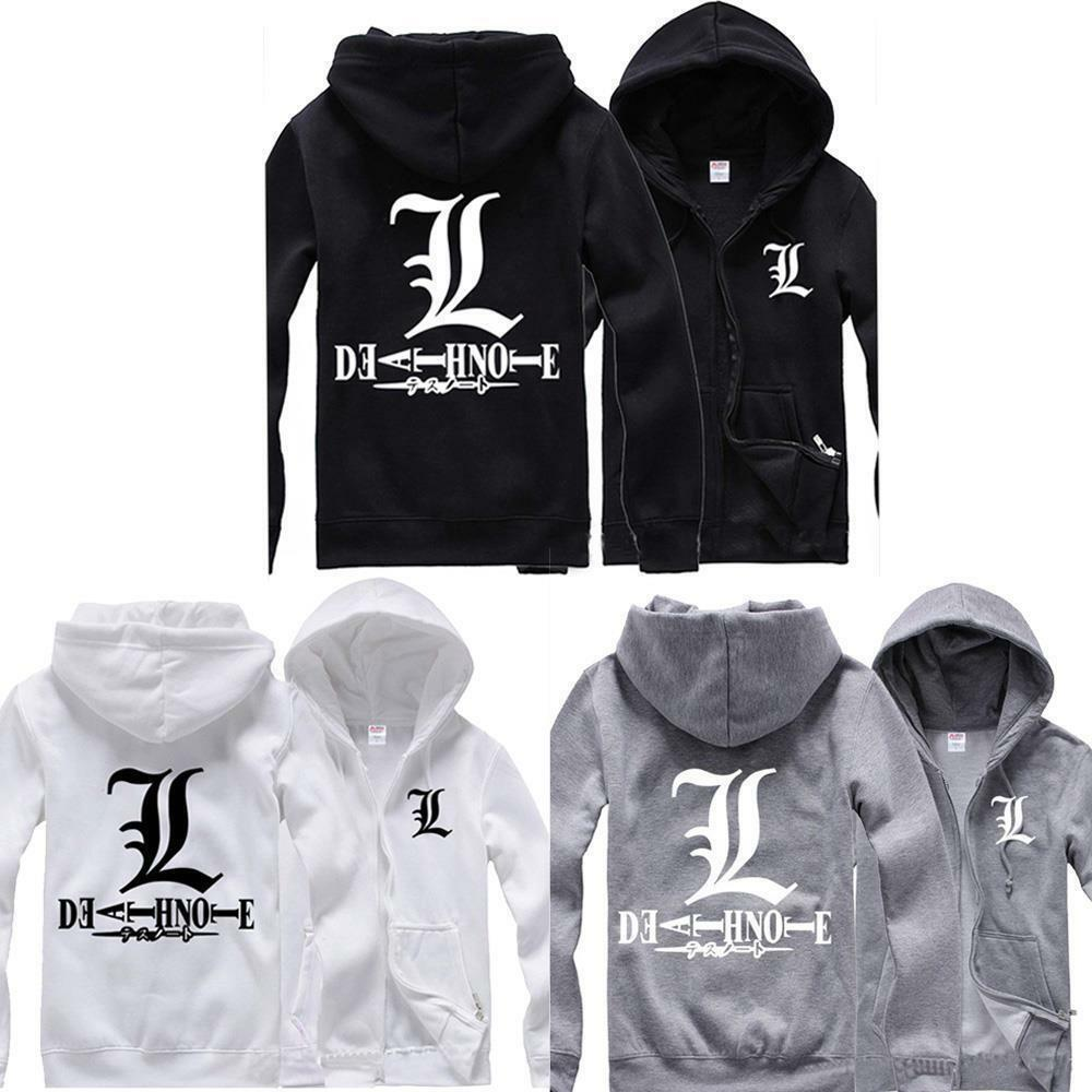 New Death Note L Hoodie Cosplay Coat Collection Jacket Casual Sweater Unisex