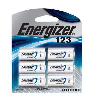 6 Pk 123 Cr123a Cr 123A 3V Energizer  Lithium Batteries