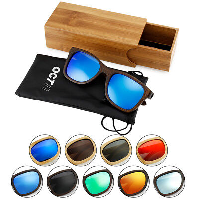 Vintage Men Women Bamboo Sunglasses Polarized Wooden frame glasses Wood (Bamboo Frame Sunglasses)