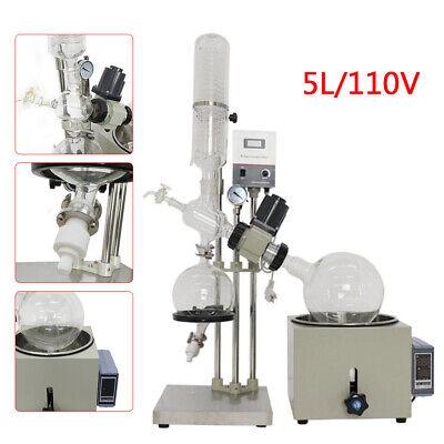 5l Rotary Evaporator Rotovap 0-99c Accuracy 1 Condenser Kit Lab Equipment