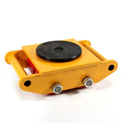 6t Heavy Duty Machine Dolly Skate Roller Machinery Mover Yellow 360 Rotation Us