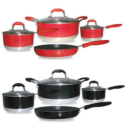 gourmet chef induction ready 7 piece non stick cookware. Black Bedroom Furniture Sets. Home Design Ideas