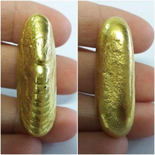 Magic Leklai Thongplalai Gold Amulet Buddha Thai Arjarn Lamyur Rare Luck Power