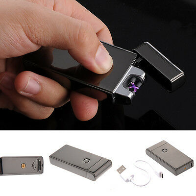 Windproof Flameless USB Dual Arc Cigarette Lighter Rechargeable Electric Lighter