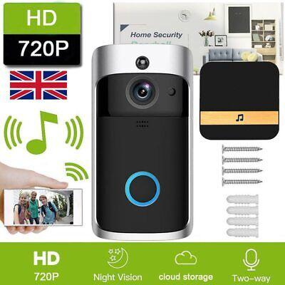 Smart Wireless WiFi Doorbell Video Camera Phone Bell Intercom Home -