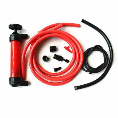 Hand Transfer Siphon Syphon Air Pump Fuel Oil Water Diesel Fluid Gun Extractor