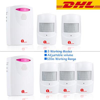 Funk Alarmanlage Bewegungsmelder 120M Durchgangsmelder Alarm Sensor Wireless ()