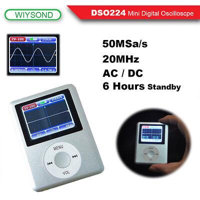 Dso224 20mhz 100msas Mini Portable Pocket Handheld Lcd Digital Oscilloscope