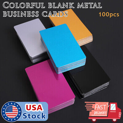 100pcs Metal Laser Engravable Business Card Blanks Full Color Thin