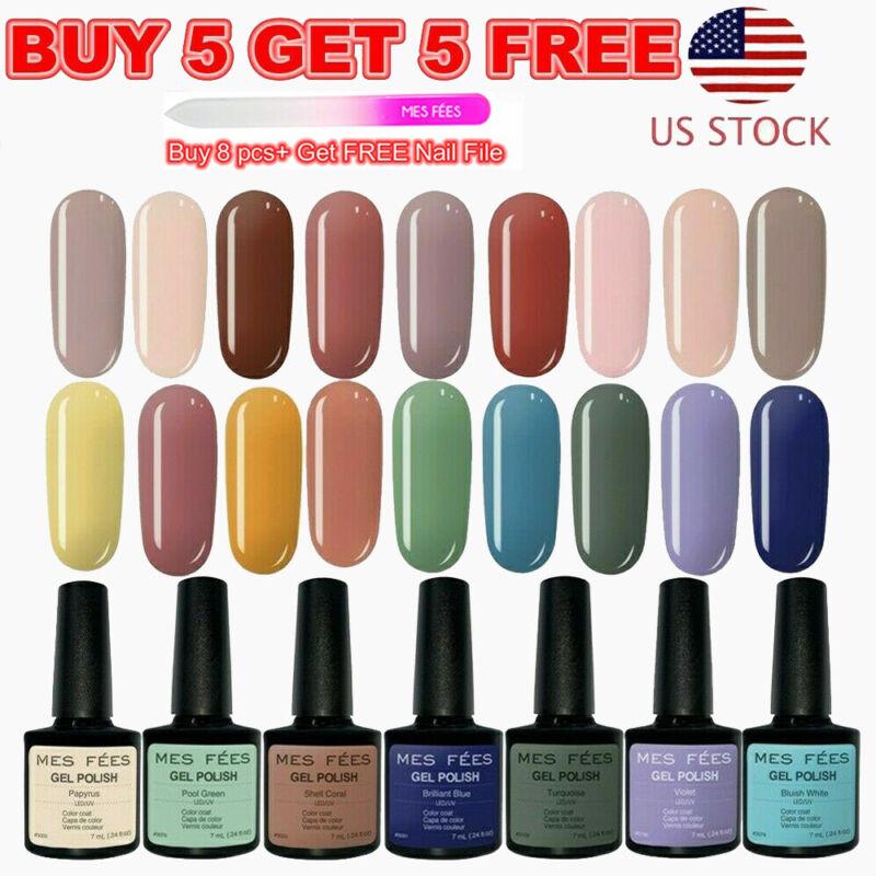 126+ Color UV LED Gel Nail Polish Base Top Coat Soak Off Glitter Salon Nail Art