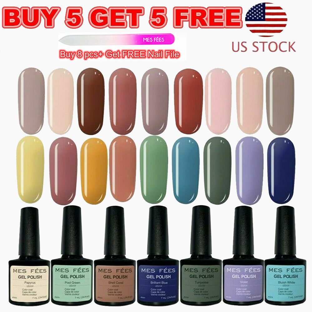 126+ Color UV Gel Nail Polish Set Base Top Coat Soak Off Gli