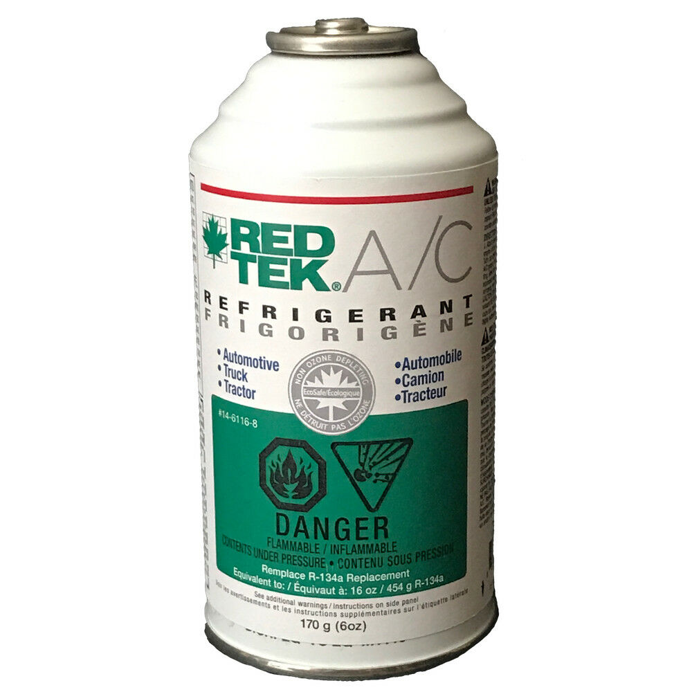 1 CASE of 12 - REDTEK A/C Refrigerant (6 Ounce Cans)