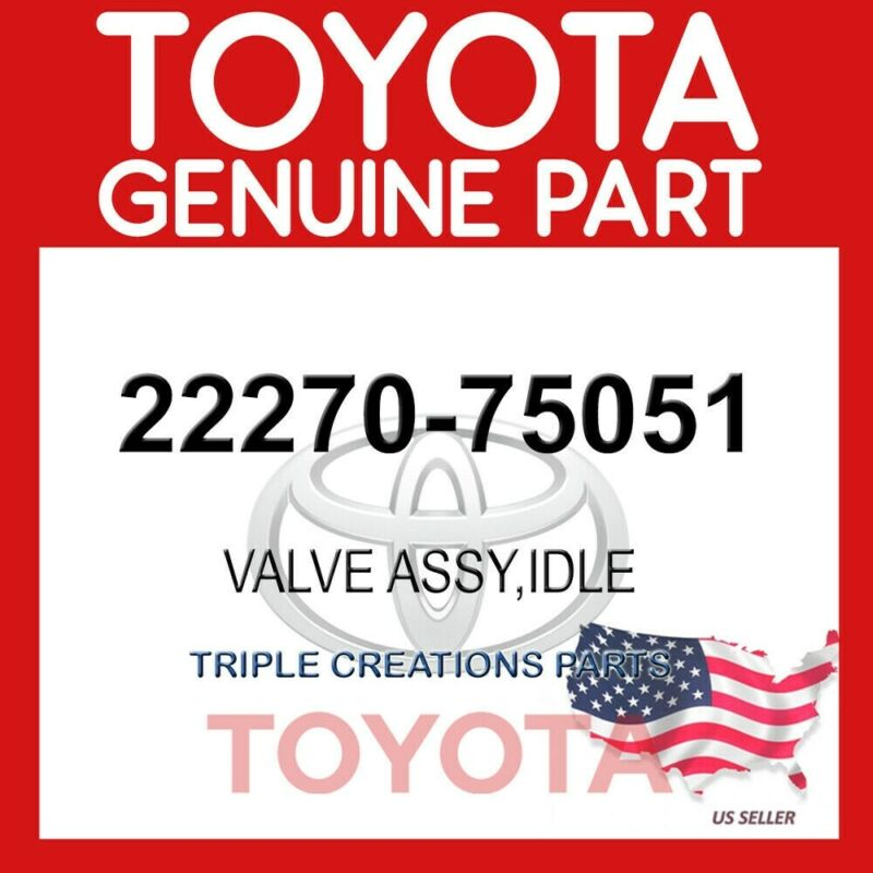 2227075051 Genuine Oem Toyota Valve Assy, Idle Speed Control For Throttle Body