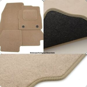 Perfect Fit Beige Carpet Car Floor Mats for Saab 9-3 98-03 Convertible - Heel Pa