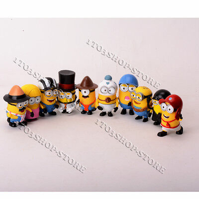 Despicable Me 2 Minions Movie Character Figures Cute Toys Birthday Gift 10pc Set - Birthday Minion