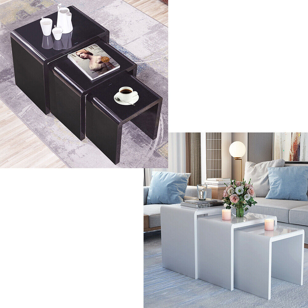 White High Gloss Top Coffee Table