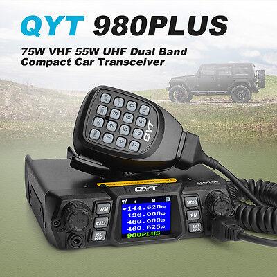 QYT 980PLUS 75W/VHF 55W/UHF Dual Band 200CH Car Mobile