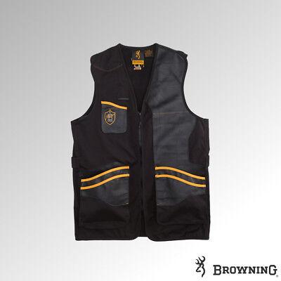 Browning Vest Masters 2 Shooting Vest LH Black/Orange (30599590xx) Browning Shooting Vest