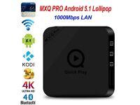 MXQ Pro2 Android 5.1 Smart TV Box Quad Core S905 KODI 16.1 Games Sports Movies UK