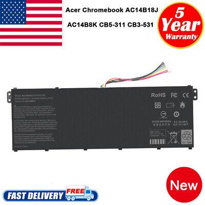 AC14B8K Laptop Battery for Acer Chromebook CB5-311 CB3-531 CB5-571 AC14B18J
