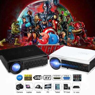 5000 Lumens LED Video Projector FHD 1080P Multimedia 3D Home Movie HDMI USB WF