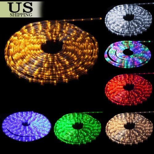Купить Unbranded - 50' 150' LED Rope Light 110V Party Home Christmas Outdoor Xmas Lighting 100 300