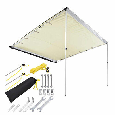 7.6'x8.2' Car Side Awning Rooftop Pull-Out Tent Shelter Camping Travel Beige
