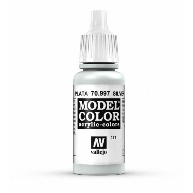 Vallejo Model Color: Silver - VAL70997 Acrylic Paint Bottle 17ml 171