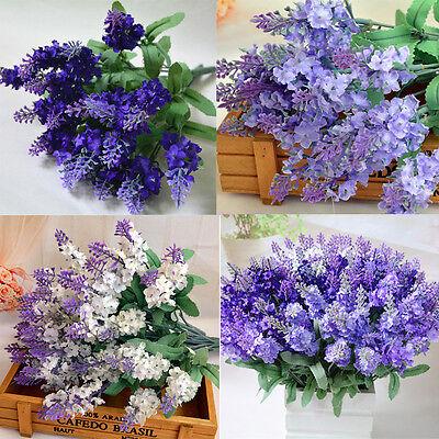 Artificial Bush Bouquet Home Wedding Fake Provence purple Flower DecorKey Holder