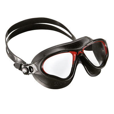 2e949122c0 Cressi Swim Cobra Mask UV Protective Silicone Swimming Goggles Black and Red