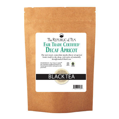The Republic Of Tea Decaf Apricot Black Tea, 250 Tea Bags, Gourmet, Naturally De
