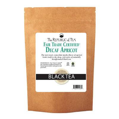 The Republic Of Tea Decaf Apricot Black Tea, 250 Tea Bags, Gourmet, Naturally De ()